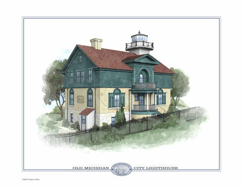 Old Michigan City Lighthouse Open Edition Print
