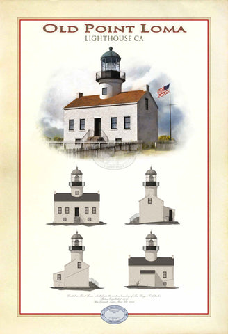 Old Point Loma Lighthouse Limited Edition Print