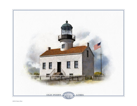 Old Point Loma Lighthouse Open Edition Print