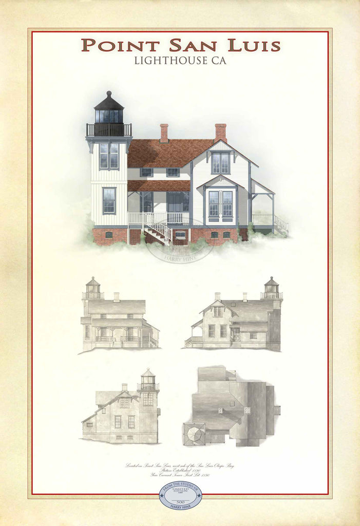 Point San Luis Lighthouse Limited Edition Print