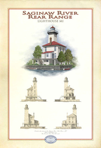 Saginaw River Rear Range Lighthouse Limited Edition Print