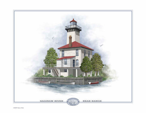 Saginaw River Rear Range Lighthouse Open Edition Print