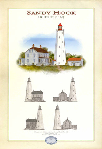Sandy Hook Lighthouse Limited Edition Print