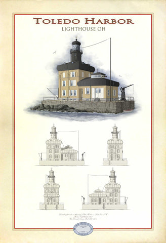 Toledo Harbor Lighthouse Limited Edition Print