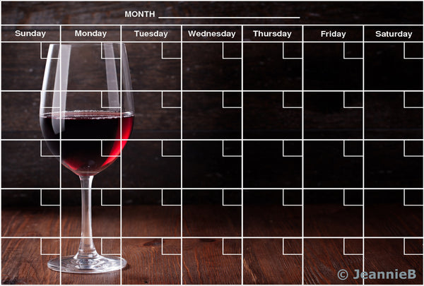 Red Wine Glass Calendar