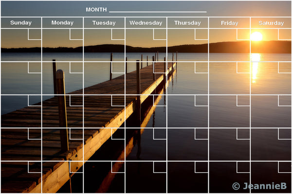 Sunset Dock Calendar