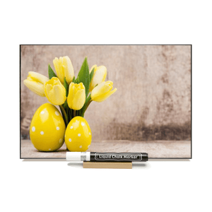 """Easter Tulips"" PHOTO CHALKBOARD  Includes Chalkboard, Marker & Stand"
