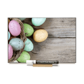 """Easter Eggs"" PHOTO CHALKBOARD Includes Chalkboard, Chalk Marker and Stand"
