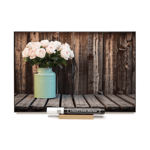 """Roses in a Jug"" PHOTO CHALKBOARD Includes Chalkboard, Chalk Marker and Stand"