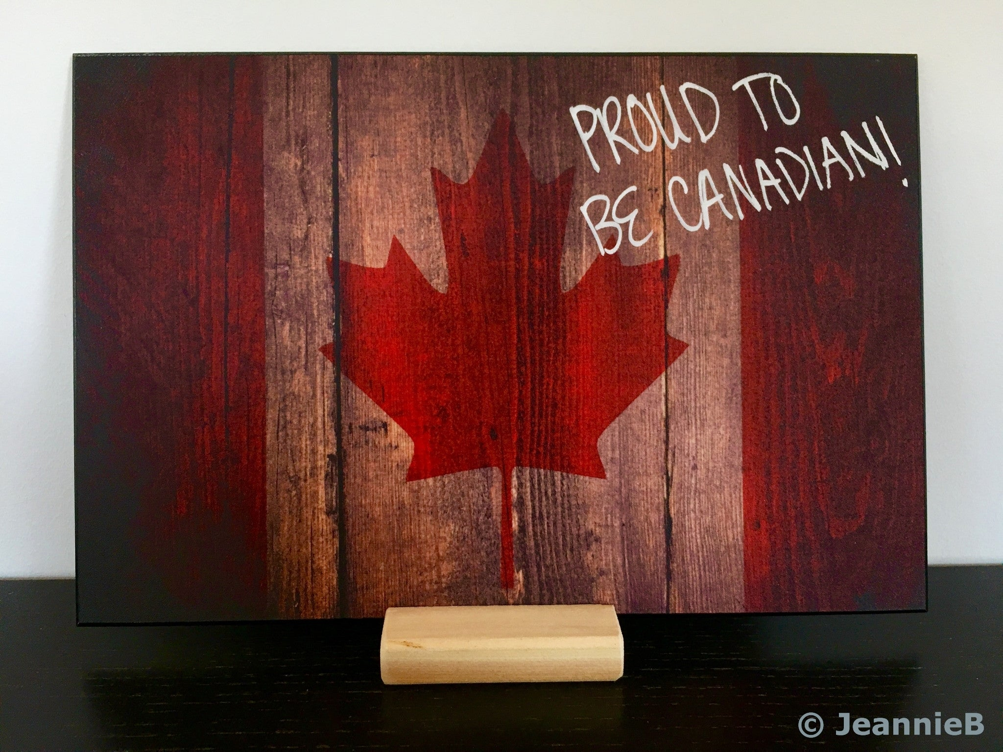 """Canada Leaves""  PHOTO CHALKBOARDS  Includes Chalkboard, Chalk Marker & Stand"