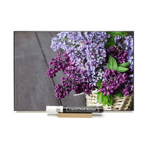 """Lilac""  PHOTO CHALKBOARD  Includes Chalkboard, Chalk Marker & Stand"