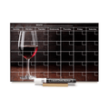 """Red Wine Glass"" Calendar PHOTO CHALKBOARD Includes Chalkboard, Chalk Marker and Stand"