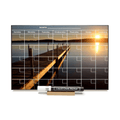 """Sunset Dock"" Calendar PHOTO  CHALKBOARD Includes Chalkboard, Chalk Marker and Stand"
