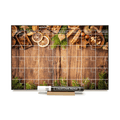 """Christmas Barnboard"" Calendar PHOTO  CHALKBOARD Includes Chalkboard, Chalk Marker and Stand"