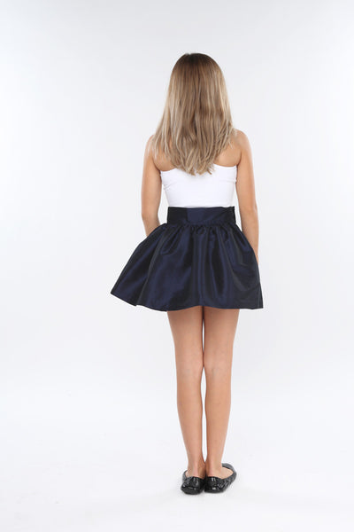 Navy KamrynJean Mini Skirt