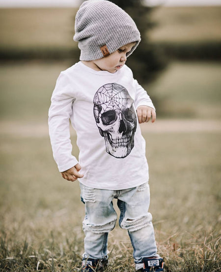 Spider Web Skull Kids
