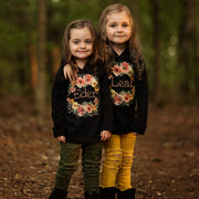 Personalized Orange Floral Kids