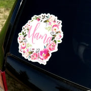 Paisley Bloom Mama Wreath Indoor/Outdoor Decal