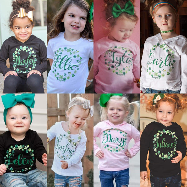 Personalized Clover Wreath Kids