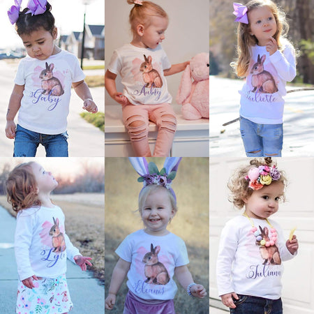 Personalized Girl Bunny Kids