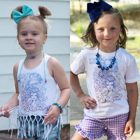 Adventure Awaits Mermaid (Ombre Purple) Kids