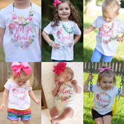 Personalized Bright Floral Wreath Kids