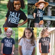 Fall Vibes Leopard Kids