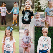 Owl Girl Floral Kids