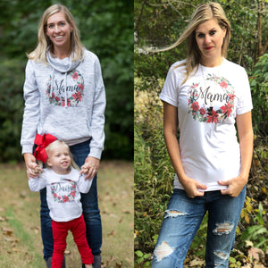 Mama Christmas Wreath Unisex Adult Tee