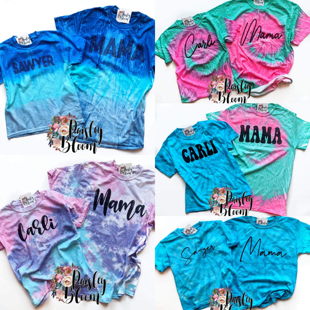 Tie Dye Personalized Kids