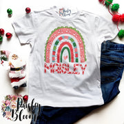 Candy Cane Rainbow Personalized Kids