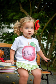 Personalized Girl Apple Kids