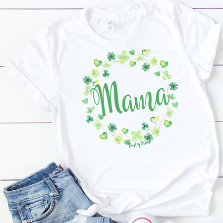 Personalized Clover Wreath Adult