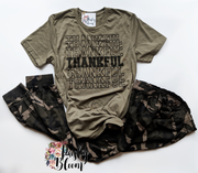 Thankful Black Lettering Adult