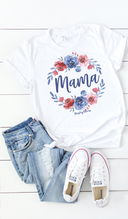 Red and Blue Mama Wreath Adult