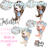 Dream On Personalized Girl Long Straight Hair Kids