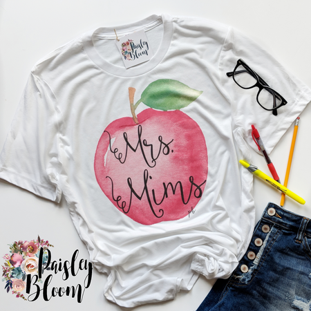 Personalized Teacher Apple Unisex Adult