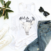 Let's Be Wild Adult Woman Razorback Flowy Tank