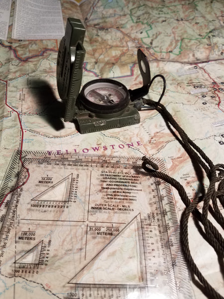 Analog Orienteering - Map, Compass, and Protractor