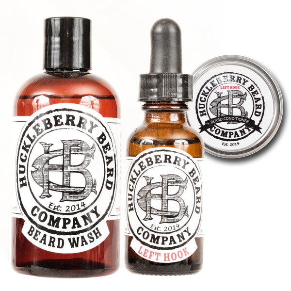 Huckleberry Beard Company - High Roller Beard Bundle With Tea Tree Wash