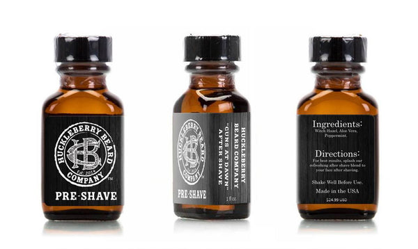 Huckleberry Beard Company - Guns at Dawn Shave Essential Bundle