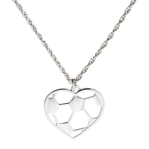 Soccer Heart Necklace