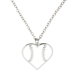 Baseball Heart Necklace