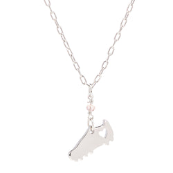 Soccer Cleat Heart Necklace