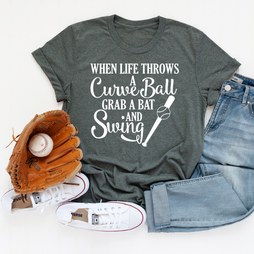 Life Throws Curveball T-Shirt