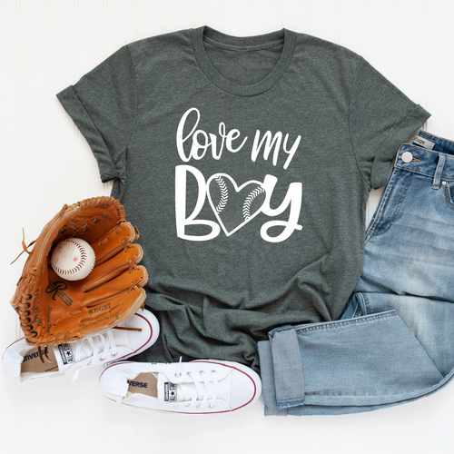 Love My Boy Baseball T-Shirt