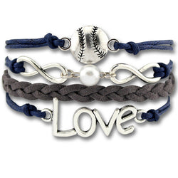 Love Baseball Wrap Bracelet