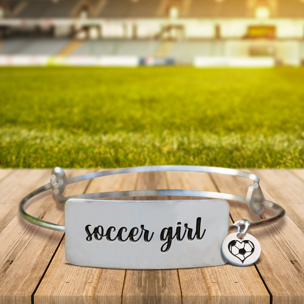 Soccer Girl Bangle Bracelet