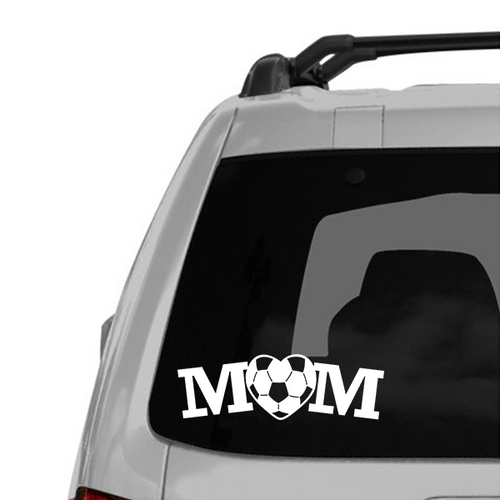 Soccer Mom Heart Decal