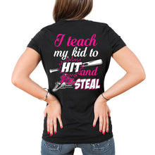 Load image into Gallery viewer, Baseball Mom Teach My Kid T-Shirt